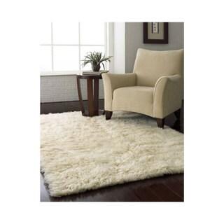 nuLOOM Hand-woven Supreme Flokati Shag Natural Wool Rug (8' x 10')