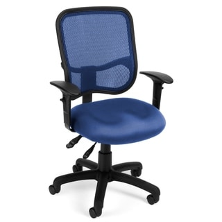 OFM Modern Mesh Black/ Blue Office Task Chair