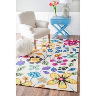 nuLOOM Handmade Floral Multi Wool Rug (5' x 8')
