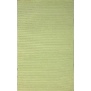 nuLOOM Handmade Braided Light Green Indoor/ Outdoor Rug (5' x 8')