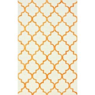 nuLOOM Handmade Moroccan Trellis Faux Silk Wool Rug (7'6 x 9'6)