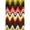 nuLOOM Handmade Modern Abstract Chevron Multi Wool Rug (7'6 x 9'6)