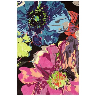 nuLOOM Handmade Floral Multi Wool Rug (7'6 x 9'6)