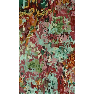 nuLOOM Handmade Abstract Multi Faux Silk / Wool Rug (7'6 x 9'6)