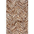 nuLOOM Handmade Chevron Brown Cowhide Leather Rug (7'6 x 9'6)