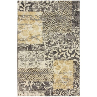 nuLOOM Collage Patchwork Grey Microfiber Rug (5' x 8')