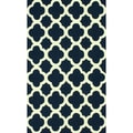 nuLOOM Handmade Moroccan Trellis Navy Wool Abstract Rug (5' x 8')