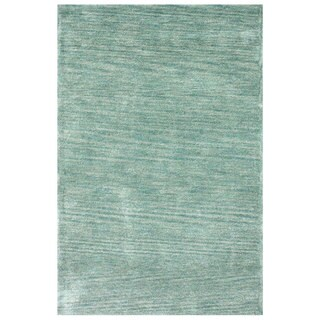 nuLOOM Handmade Solid Blue / Grey Rug (7'6 x 9'6)
