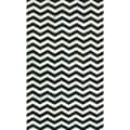 nuLOOM Handmade Chevron Black Cowhide Leather Rug (5' x 8')