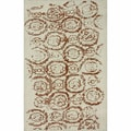 nuLOOM Hand-knotted Abstract Natural Wool Rug (5' x 8')