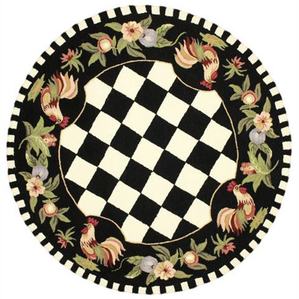 NuLOOM Hand-hooked Moroccan Rooster Checkered Wool Rug (6