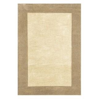 nuLOOM Handmade Zen Solid Border Wool Rug (3' x 5')