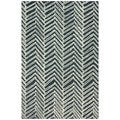 nuLOOM Handmade Chevron Denim Wool Rug (3' x 5')