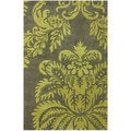nuLOOM Handmade Damask Green New Zealand Wool Rug (3' x 5')