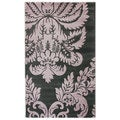 nuLOOM Handmade Damask Grey New Zealand Wool Rug (3' x 5')