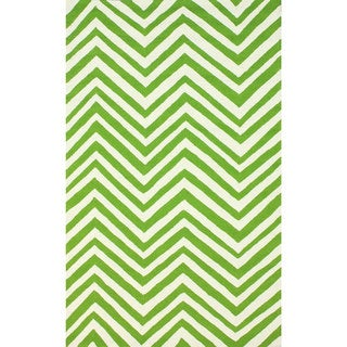 nuLOOM Green Indoor/ Outdoor Chevron Rug (9' x 12')