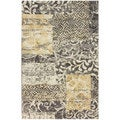 nuLOOM Collage Patchwork Grey Microfiber Rug (4' x 6')