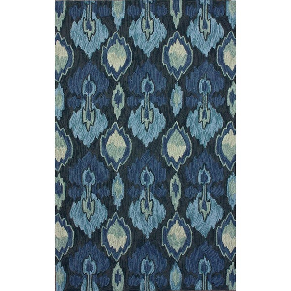 nuLOOM Handmade Modern Ikat Blue Rug (6' x 9')