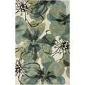 nuLOOM Bold Floral Ivory Microfiber Rug (6' x 9')