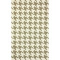 nuLOOM Handmade Houndstooth Light Brown Wool Rug (6' x 9')