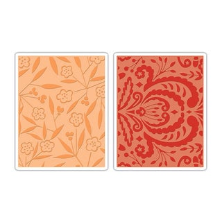 Sizzix Textured Impressions Embossing Folders 2-pack by Dena Designs
