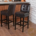 Christopher Knight Home Macbeth Espresso Leather Bar Stool