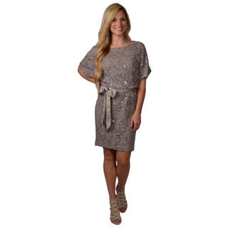 Jessica Howard Women's Lace Blouson Dress