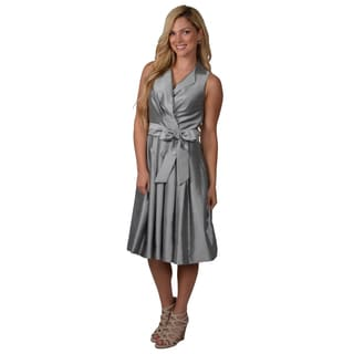 Jessica Howard Women's Metallic Pleated Dress