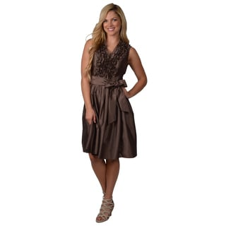 Jessica Howard Women's Metallic Ruffle Dress