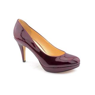 Enzo Angiolini Women's Burgundy 'Dixy' Patent Platform Dress Shoes