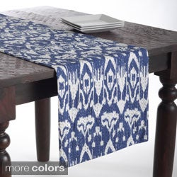Ikat Table Runner with Kantha Stitches
