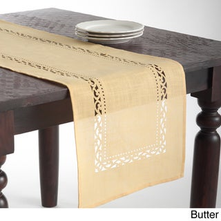 Cutwork Design Table Runner