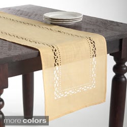 Cutwork Design Table Runner
