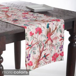 Kantha Stitches Printed Cotton Table Runner