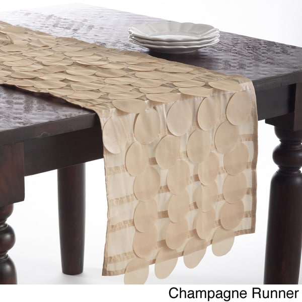 table in Runner 72 Champagne runner Topper   16 Circle Runner Design 72 x 16 x in Table or