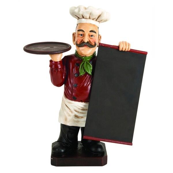 Polystone Red and White Chef Menu Board