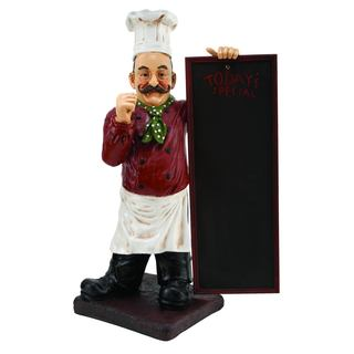 36-inch High Polystone Chef Chalkboard