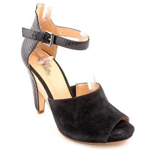 Belle Sigerson Morrison Women's 'Marilyn' Black Suede Dress Shoes