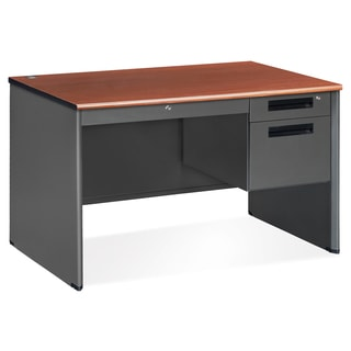 OFM Cherry Top Single Pedestal Desk