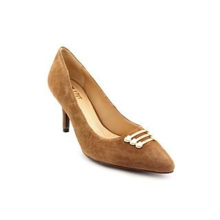Love Moschino Women's 'Scarpa D.Apple75' Regular Brown Suede Dress Shoes