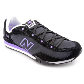 New Balance Women's 'WLS442' Black Regular Suede Athletic Shoe