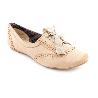 Not Rated Women's 'The Boyfriend' Beige Man-Made Dress Shoes