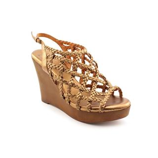 J. Litvack Women's 'Waverly' Bronze Leather Sandals