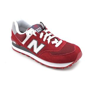 New Balance Men's Burgundy 'ML574' Regular Suede Casual Shoes
