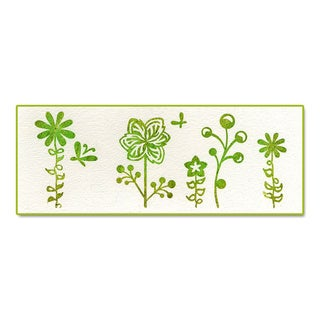 Sizzix Ink-its Letterpress Plate Butterflies and Flowers by Rachael Bright