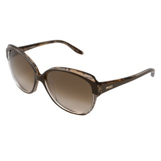 Emilio Pucci Women's EP670S Rectangular Brown-Gradient Sunglasses