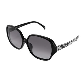Emilio Pucci Women's EP671S Rectangular Black-and-Gray Sunglasses