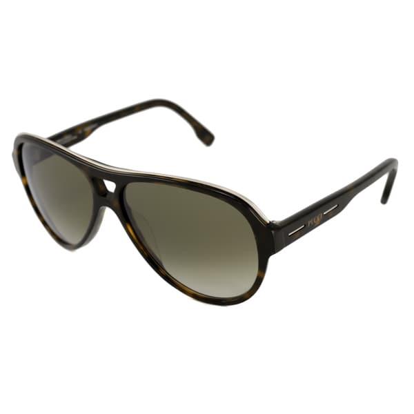 Emilio Pucci Women's EP682S Tortoise Aviator Sunglasses