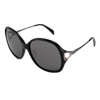 Emilio Pucci Women's EP698S Black/Gray Rectangular Sunglasses