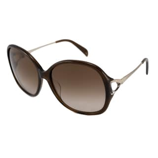 Emilio Pucci Women's EP698S Brown/Brown Gradient Rectangular Sunglasses